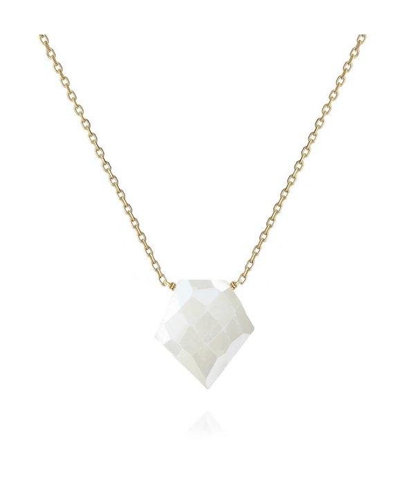 Perle de Lune 18 Kt Gold Halsschmuck Arrow mit Silverite