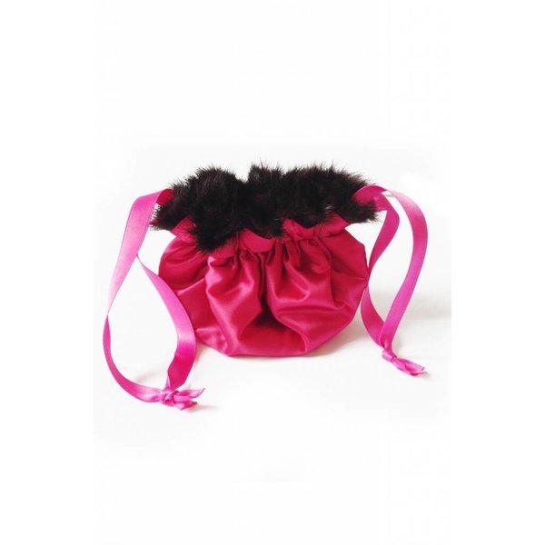 Schmucksäckchen schwarz/pink - 20cm
