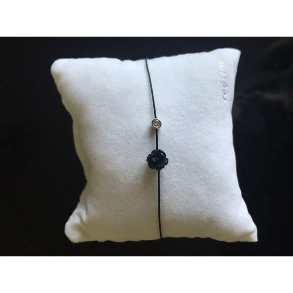 Armband Mayssa Pure schwarz 18 Kt