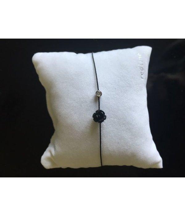Redline Armband Mayssa Pure schwarz 18 Kt