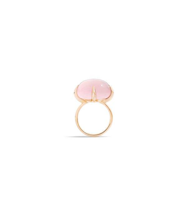 Ring VELENO 51 Rosenquarz