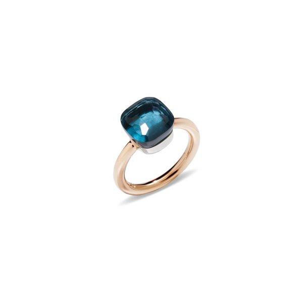 Ring NUDO Classic London Blue Topas 54