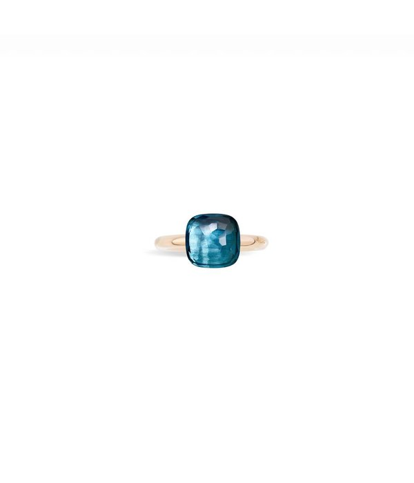 Ring NUDO Classic London Blue Topas 54