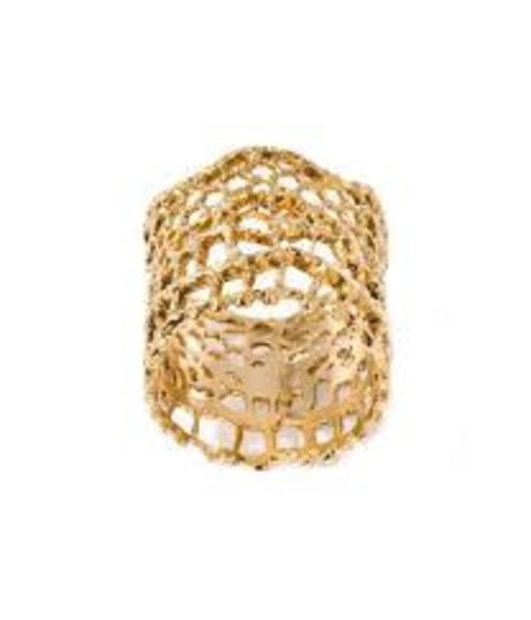 Aurélie Bidermann Ring Dentelle Vintage Gelbgold