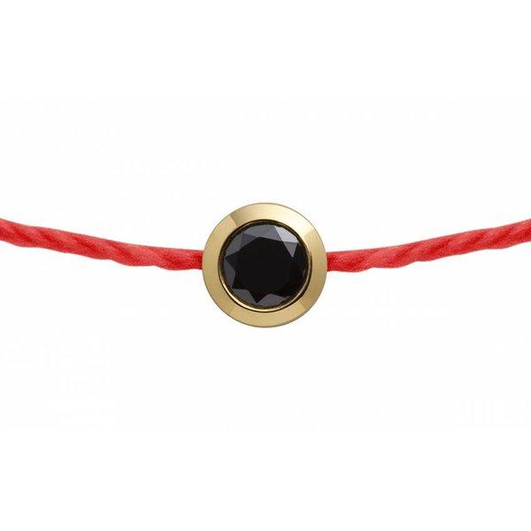 Armband PURE MEN Gelbgold mit schwarzem Diamant -