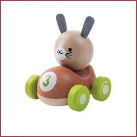 Plantoys Houten racewagen Bunny Racer