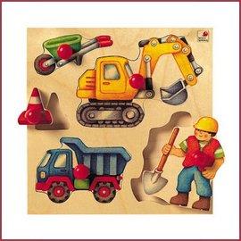Selecta Selecta houten puzzel Bouwplaats