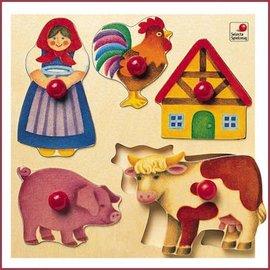 Selecta Selecta houten puzzel Boerderij