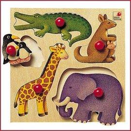 Selecta Selecta houten puzzel Dierentuin