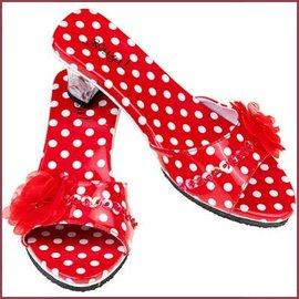Souza for kids Schoentjes met hakjes Inès rood met witte stippen