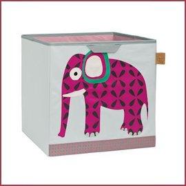Lässig 4Kids Toy Cube Storage opbergbox - Wildlife Elephant