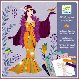 Djeco Knutselset Papier plissé: Art Deco jurken vouwen