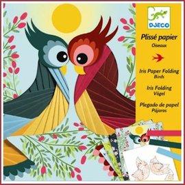 Djeco Knutselset Papier plissé: Vogels vouwen