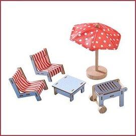 Haba Little Friends terrasset voor poppenhuis