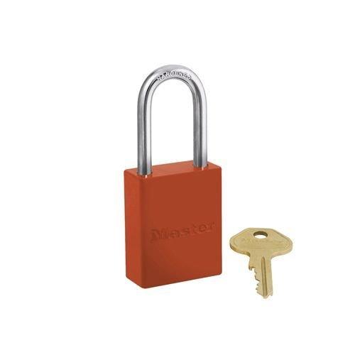 Sicherheitsvorhängeschloss aus Aluminium orange S6835LFORJ