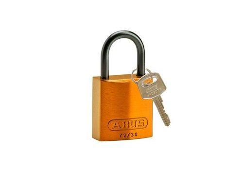 Sicherheitsvorhängeschloss aus eloxiertes Aluminium orange 834861