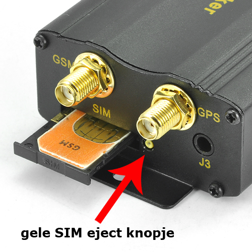 GPS tracker handleiding SIM kaart
