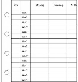 Vorlesungs-/Stundenplan