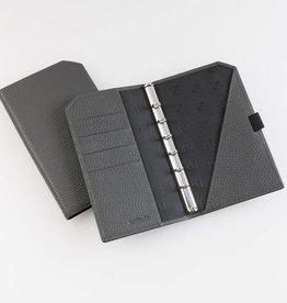 """Lederringbuch """"Classic Private"""" granitgrau"""