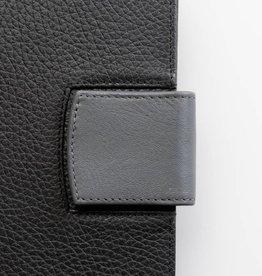Lederlasche einzeln - grau