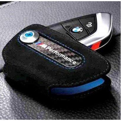 BMW M-Performance alcantara sleuteletui met M-Performance logo.