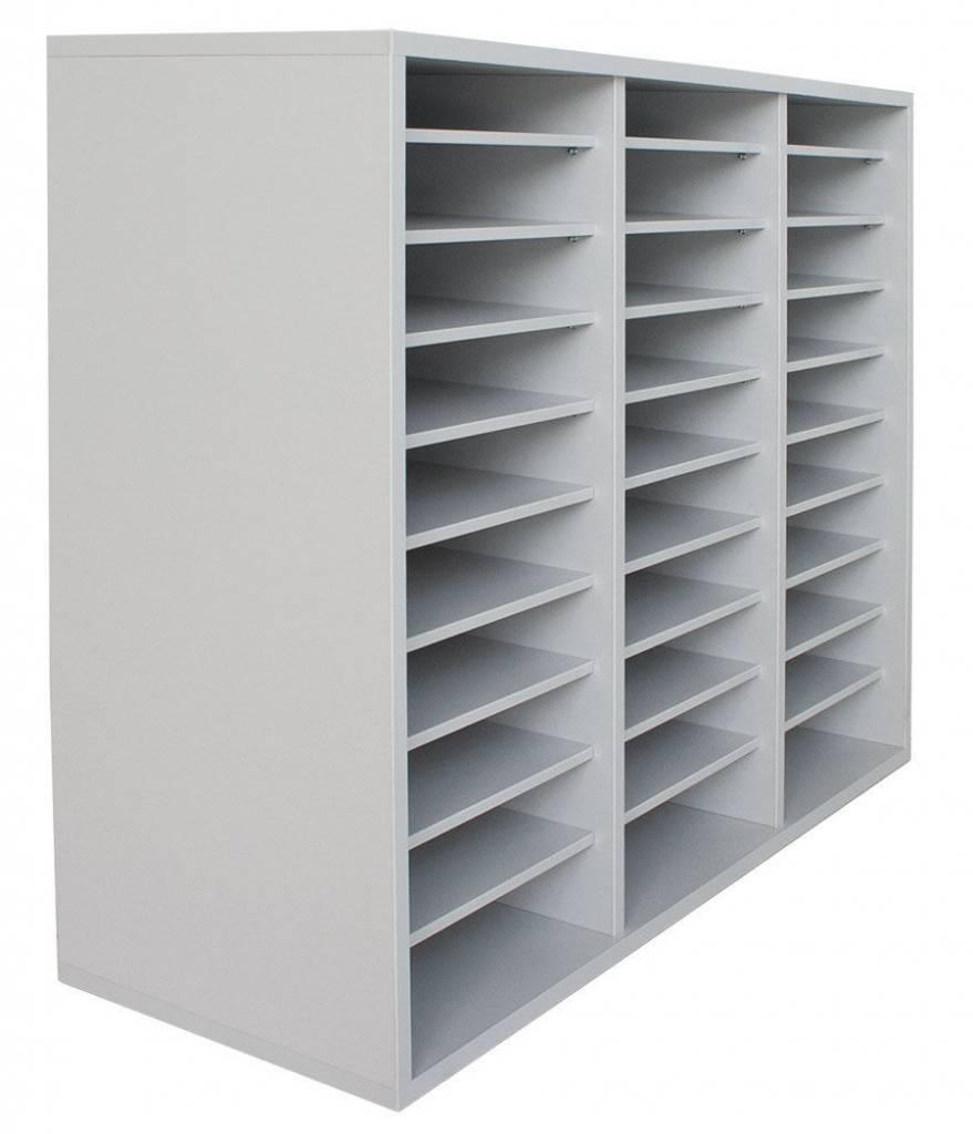 Fächerschrank mit 30 Fächern A4 - Büroschrank Ablageschrank ...