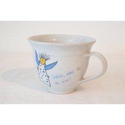 Weißiger Keramik Cappuccinotasse Engel