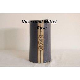 """Weißiger Keramik Vase rund Mittel """"Rose"""""""