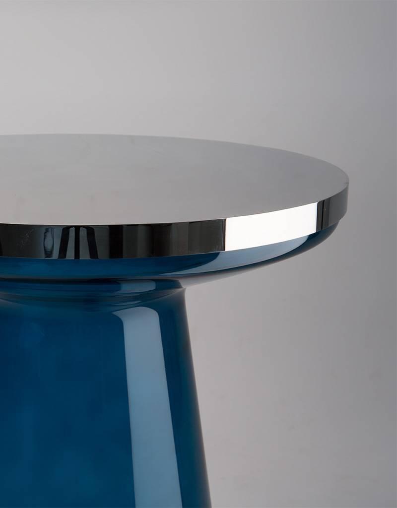 FIGURE - blue/chrome