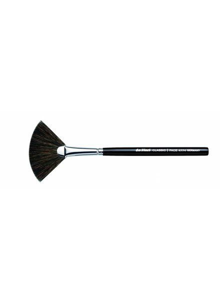 DaVinci Classic Blusher Fan Brush, Dark Brown, extra fine Mountain Goat Hair 4774