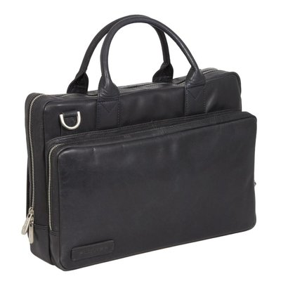 Plevier Business/laptoptas greased rundleer 2-vaks 14 inch Plevier 271