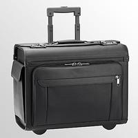 D&N Leren Trolley/Pilotenkoffer D&N met laptopvak en ordnervak