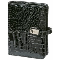 Kalpa Kalpa Pocket - Junior organizer Gloss Croco Zwart