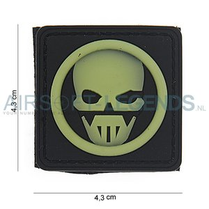101Inc. 101Inc. Ghost 3D Rubber Patch Black