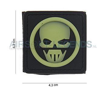 101Inc. Ghost 3D Rubber Patch Black