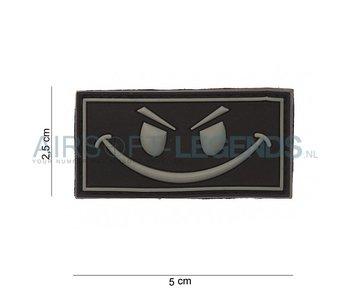 Evil Smiley Rubber Patch Black