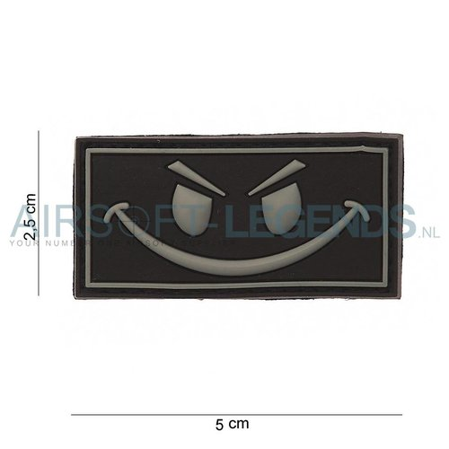 JTG JTG Evil Smiley Rubber Patch Black