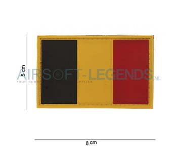 101Inc. Belgium Flag Rubber Patch
