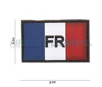 101Inc. Franse Vlag FR Rubber Patch