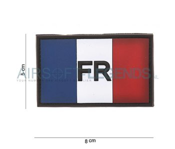 101Inc. French Vlag FR Rubber Patch