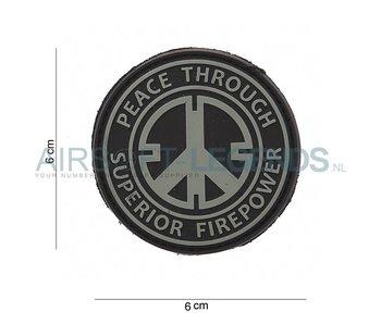 JTG Peace Rubber Patch Black