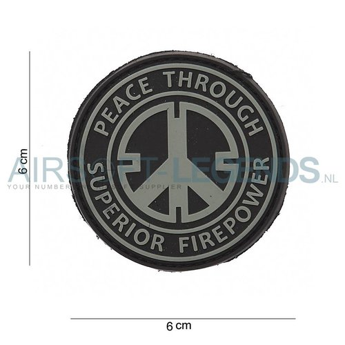 101Inc. JTG Peace Rubber Patch Black