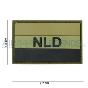 101Inc. 101Inc. NLD Rubber Patch Green/Black