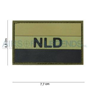 101Inc. 101Inc. NLD Rubber Patch Groen/zwart