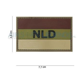 NLD Rubber Patch Brown/Ecru