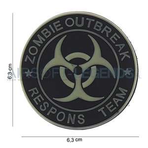 JTG JTG Zombie Outbreak Rubber Patch Black