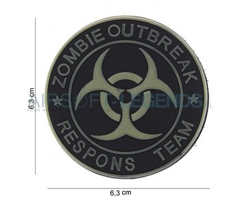 JTG Zombie Outbreak Rubber Patch Black