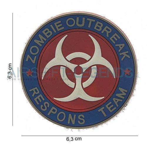 101Inc. JTG Zombie Outbreak Rubber Patch Fullcolor