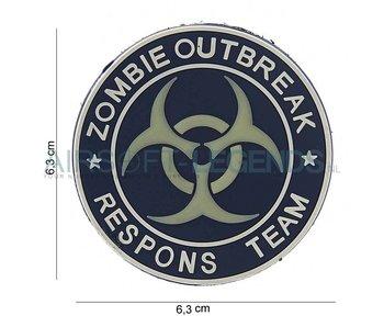 JTG Zombie Outbreak Rubber Patch Blue