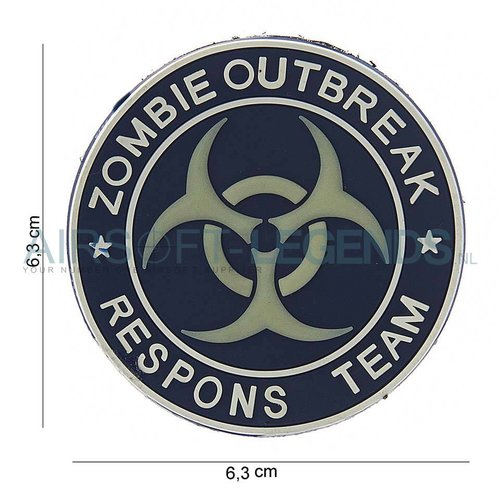 101Inc. JTG Zombie Outbreak Rubber Patch Blue